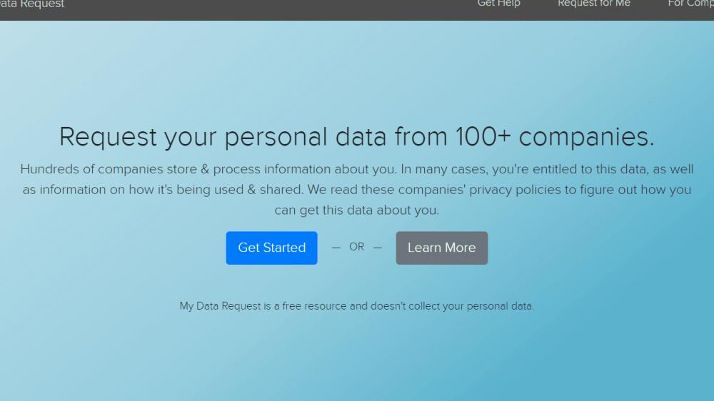 My Data Request, la página que nos ayuda a saber que información guardan los servicios online.